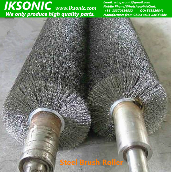 Industrial Stainless steel wire brushes roll metal polishing