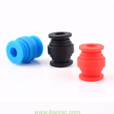 silicone rubber vibration damper blue and red ball