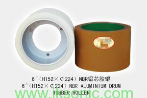 6-INCH-NBR-with-Aluminium-core-hub-RUBBER-ROLLER-FROM-factory IKSONIC