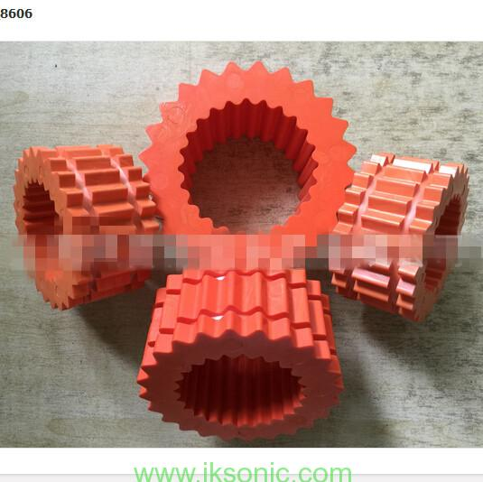 Red teeth TYPE Couplings elastomer and custom rubber parts for couplings equipment