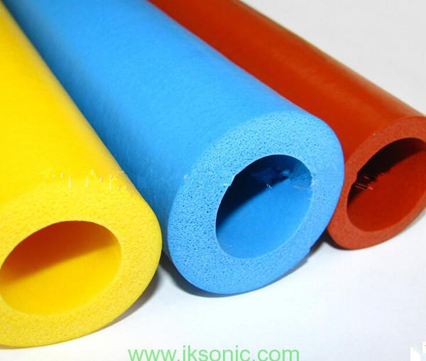 colored silicone foam rubber foam insulation tube for solar heat insulation