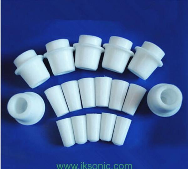 silicone rubber plug and stopper for test tube in lab.