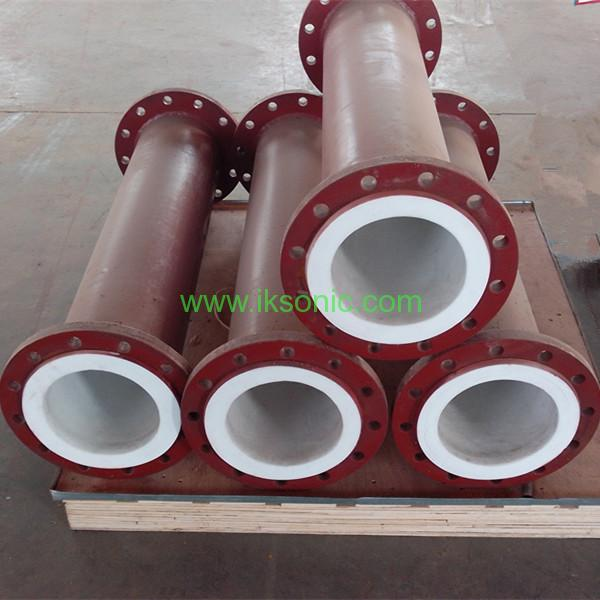Steel lined with plastic pipe corrosion PTFE inside steel pipe chemical resistant
