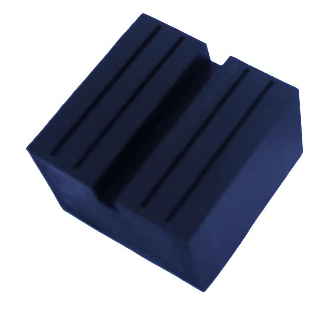 Universal Square Rubber Jack Pad Slot Groove Trolley