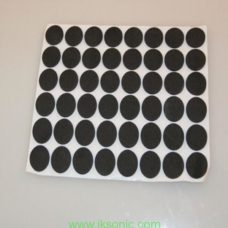 Self-adhesive rubber foot pads