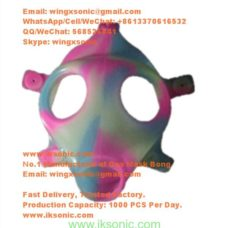 glows color smoking mask bong for sale smoke face mask water pipe gas mask water bong www.iksonic.com