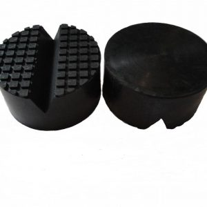 Rubber block pad for floor jack Rubber Jack pad diameter 100mm height 50mm V groove for car jack