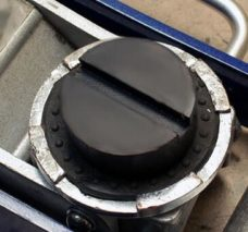 rubber jack pad with slot rubber pad for trolley jack pad