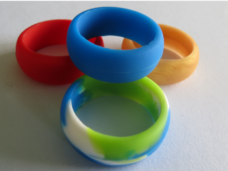 colored silicone wedding ring