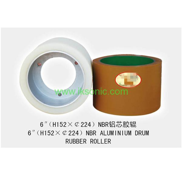 rice rubber rolls manufacturers 6 INCH NBR with Aluminium core hub RUBBER ROLLER FROM IKSONIC