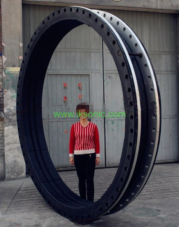 DN2600 Large Diameter Rubber Seal Coupling joint steel ring ...