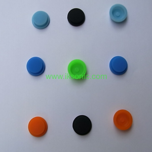 Red silicone rubber cap button for flashlight