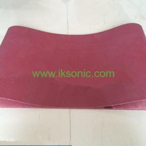 Heat Resistant Silicone Conveyor Belt Supplier red food grade belt conveyor belt manufactuer plastic bag machine
