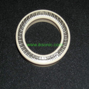 PTFE piston seal with v type spring