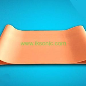Silicone Conveyor Belt manufacturer supplier Red Conveyor Belt fabric inserted plastic bag machine fabric rib belt