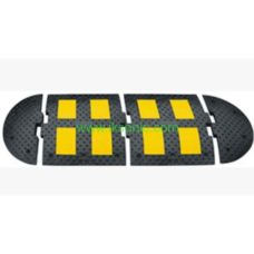 china manufacturer speed bump 50mm width traffic safety rubber yellow black
