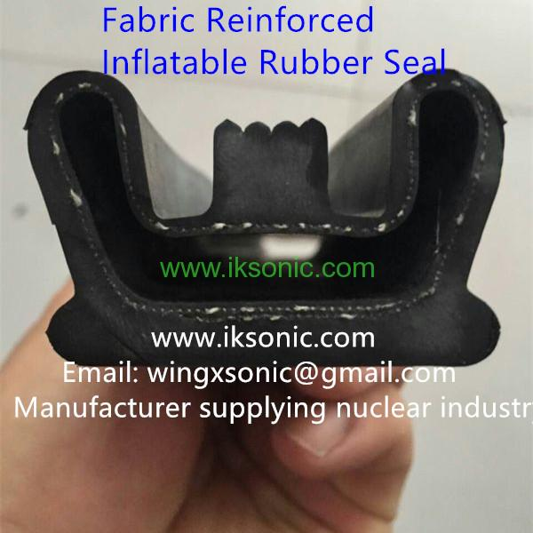 fabric reinforced inflatable rubber seal EPDM door air seal inflatable seal bladder