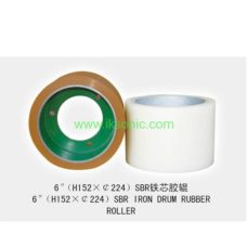 Rice Mill Rubber Roller factory name IKSONIC 6 inch SBR IRON DRUM CORE RUBBER ROLLER FOR RICE HULLER food grade