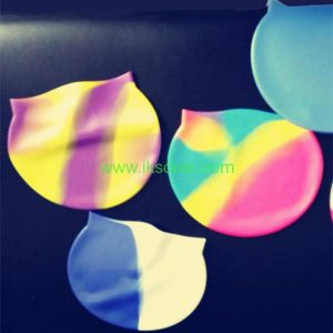 silicone rubber cap swimming girl school silicone swim caps rubber swimming cap