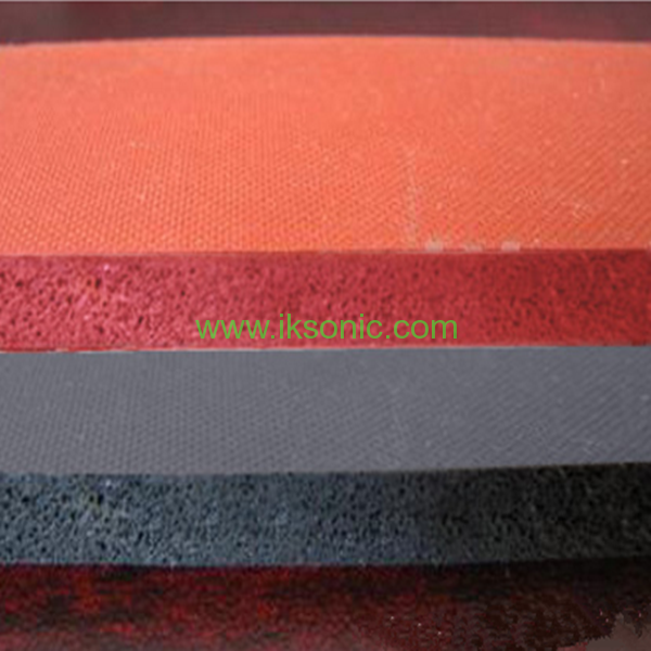 Food Grade Red Silicone Rubber Sponge Foam Sheetiksonic