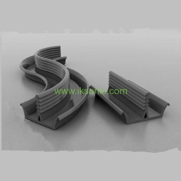 Curtain wall lock strip neoprene