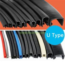 metal edge clamp rubber seal strip custom large thickness