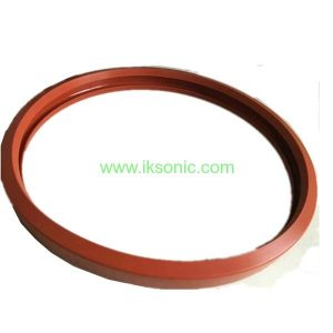 red brown silicone seal gasket ring pipe line joint pipe connector
