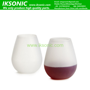 Silipint Pint Cup clear transparent silicone rubber wine cup print