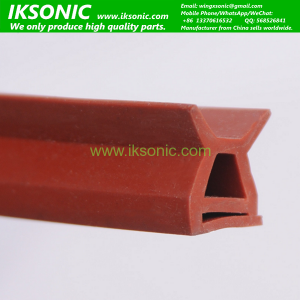 High temperature heat resistant silicone rubber seal strip
