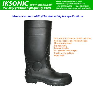 Industrial Steel Toe Knee Boot rubber chemical resistant protective work boot