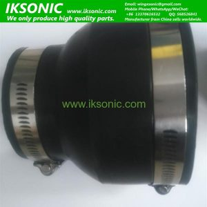 Stainless steel and rubber hub flexible rubber coupling