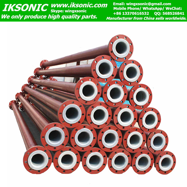 Chemical resistant plastic ptfe lined steel pipe teflon
