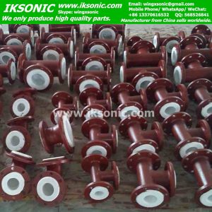 PTFE Plastic Lined Pipe Fittings waste Corrosion-Resistance carbon steel pipe