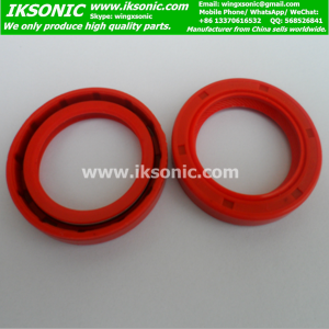 Red double lip TC food Machine silicone oil seal