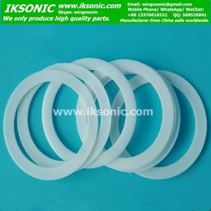 White PTFE teflon flat sealing gasket washer