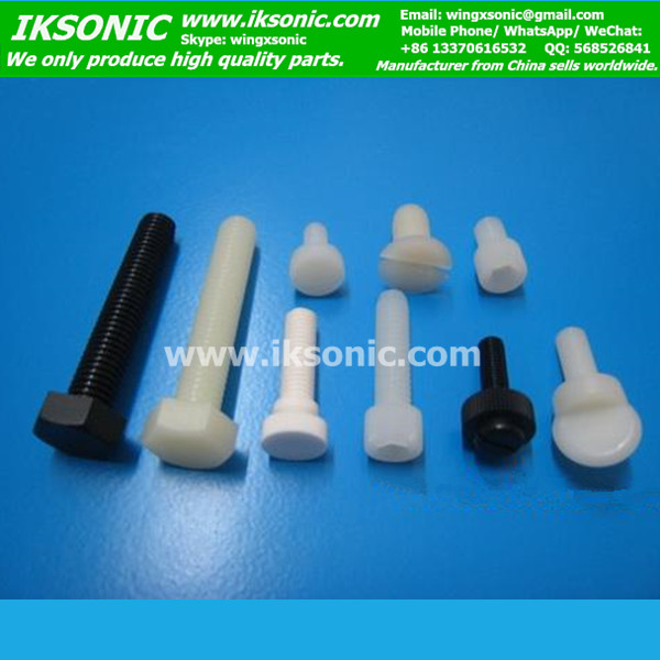 PTFE Bolts High Performance Polymer Fasteners Corrosion Resistant Non-Conductive