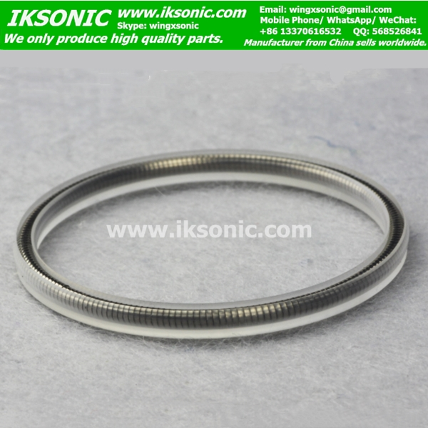 PCTFE spring energized seal IKSONIC low temperature high pressure
