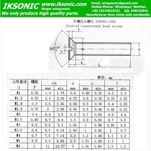 DIN963 screw bolt thread standard IKSONIC factory